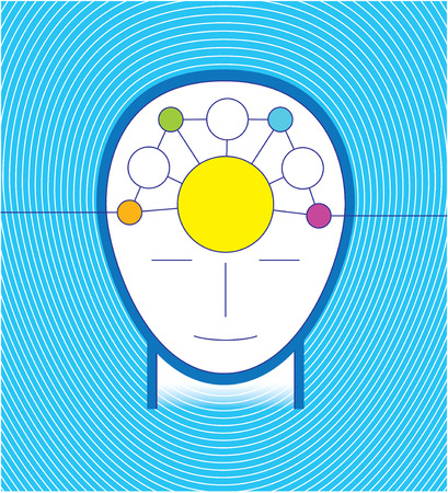 infographic head blue concept Vector