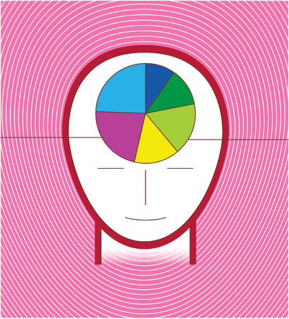 infographic head purple concept Vector