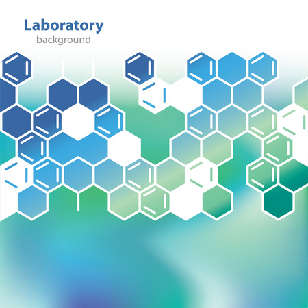 Abstract sea-green medical laboratory background  Illustration