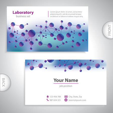 Universal violet-blue medical laboratory business card