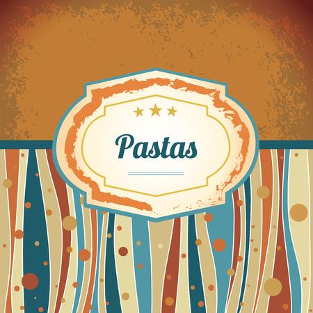 Pasta - retro antique template label Vector