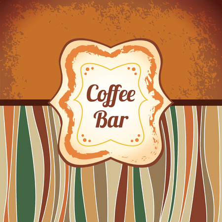 Coffee - retro antique template label