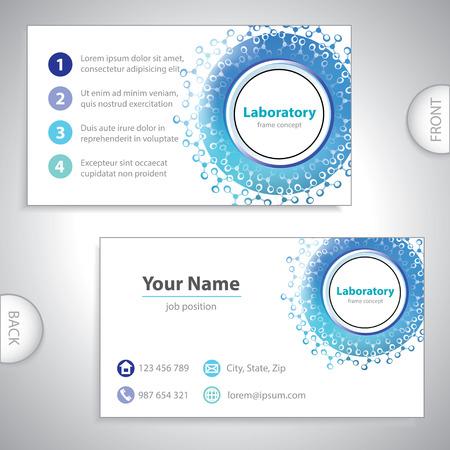Universal blue laboratory business card  Illusztráció