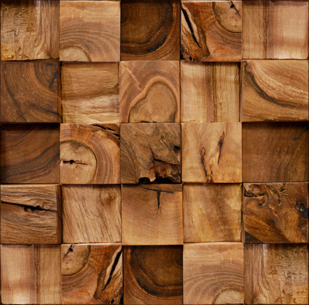 Wooden blocks stacked for seamless background photo