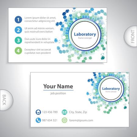 Universal sea-green laboratory business card  Illustration