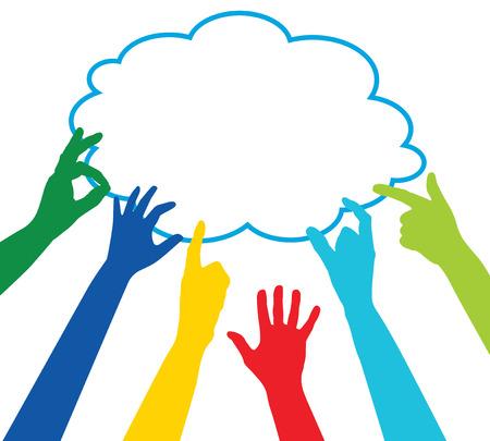 equipo tiene varias conexiones de una nube