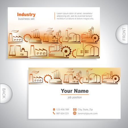Universal Industrial business card Vector