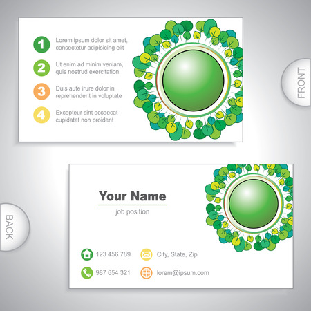Universal nature business card. Vector