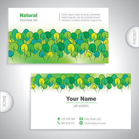 Universal nature business card. Illustration