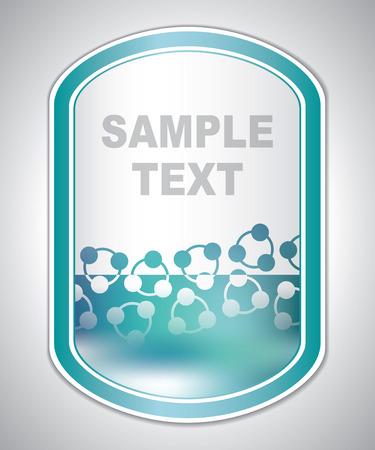 laboratory label: Abstract greenish medical laboratory label Illustration