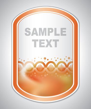 laboratory label: Abstract orange medical laboratory label Illustration