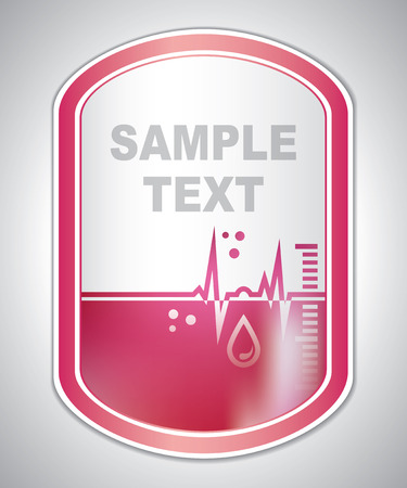 laboratory label: Abstract red medical laboratory label