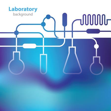Azulado fondo laboratorio médico abstracta.