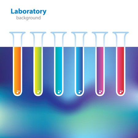 Abstract colorful medical laboratory background. Vector