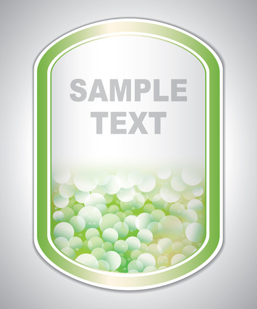 laboratory label: Abstract green-white medical laboratory label