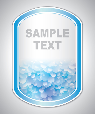 laboratory label: Abstract blue-white medical laboratory label