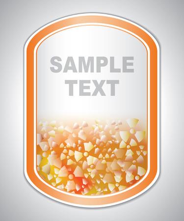 laboratory label: Abstract orange-white medical laboratory label