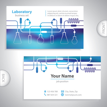 Universal bluish medical laboratory business card.