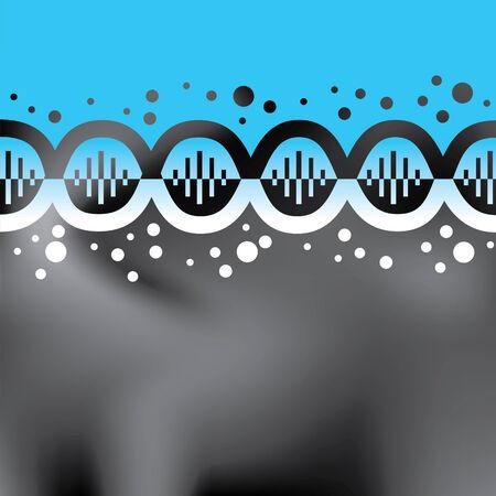 biomedical: Abstract blue elica sfondo