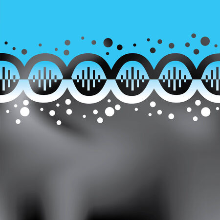 Abstract blue helix background Vector