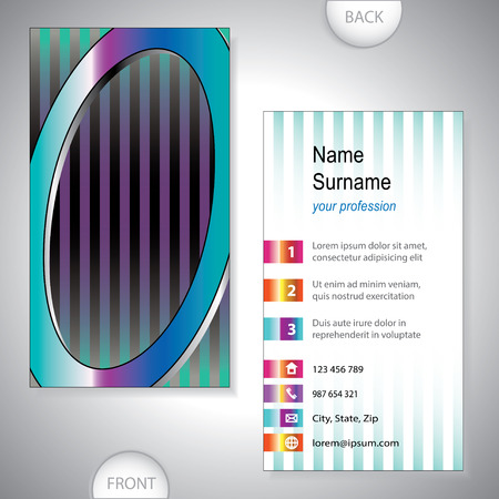 Universal business card with initials O
