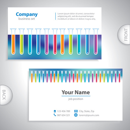 medical laboratory: Universal colorful medical laboratory business card Illustration