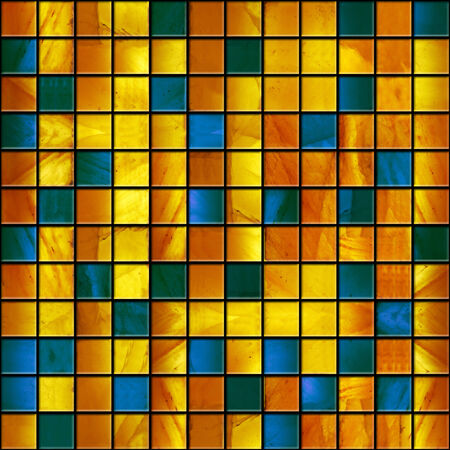 seamless marble tiles in yellow and blue colors photo