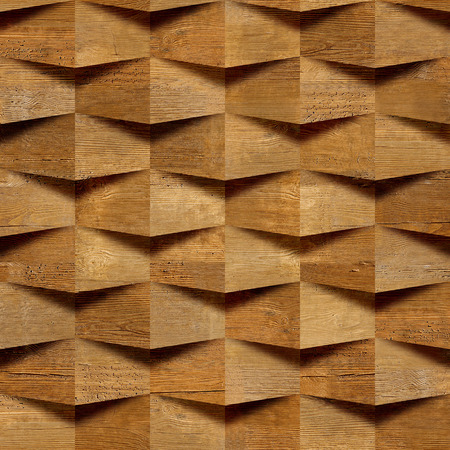 Wooden blocks stacked for seamless background, veneer rosewood Banco de Imagens