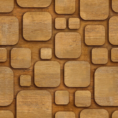 Seamless geometric wooden blocks - seamless background photo