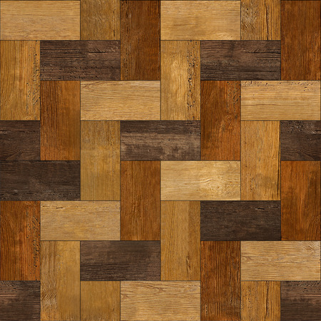 Wooden rectangular parquet stacked for seamless background