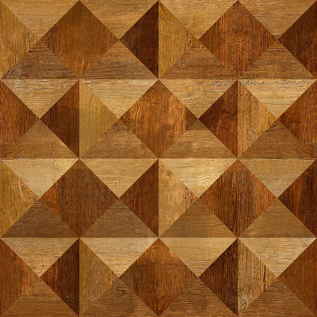 Wooden pyramids stacked for seamless background, coffered paneling, rosewood veneer photo