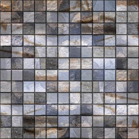 stack stone: Stone tiles, stacked for seamless background, quartz surface Stock Photo
