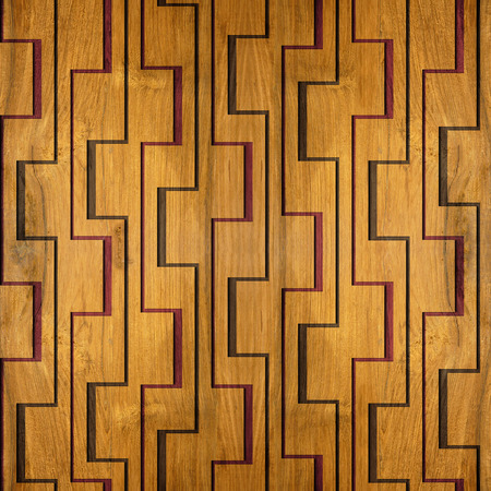 Decorative wooden pattern for seamless background Banco de Imagens