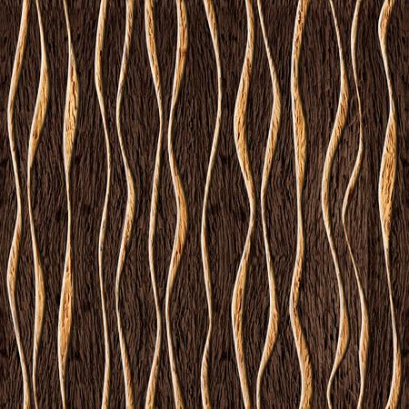 Patrón de madera abstracto inconsútil, olas