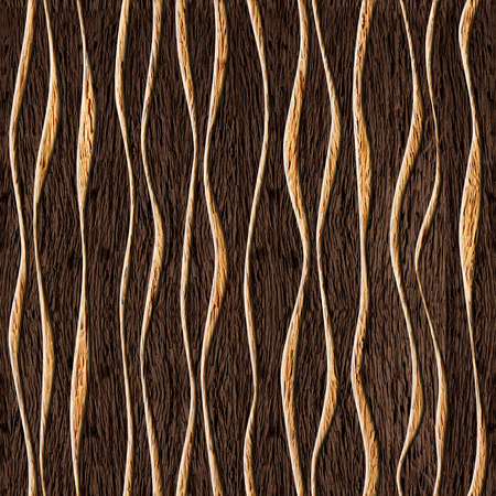Seamless abstract wooden pattern, waves