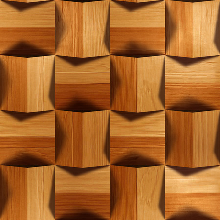 veneer: Wooden blocks stacked for seamless background, veneer alder Stock Photo