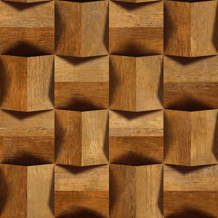 veneer: Wooden blocks stacked for seamless background, veneer rosewood Stock Photo