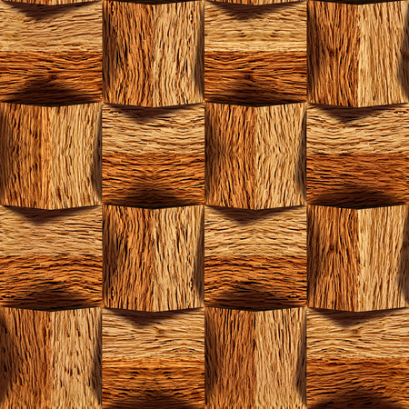 Wooden blocks stacked for seamless background, oak veneer