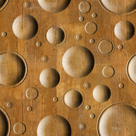 Bubble decorative wooden pattern for seamless background photo