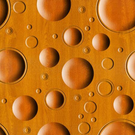 wooden pattern: Bubble motivo decorativo in legno per lo sfondo senza soluzione di continuit� Archivio Fotografico