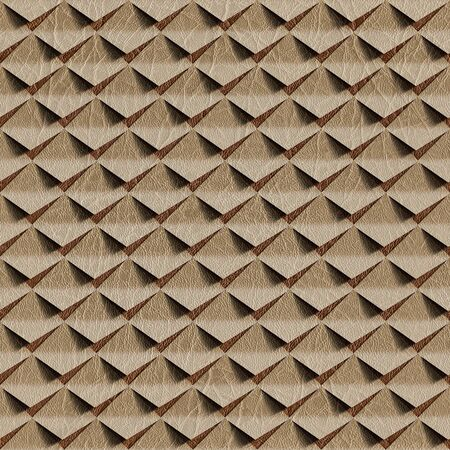 clippings: Abstract clippings stacked for seamless background, surface beige leather Stock Photo