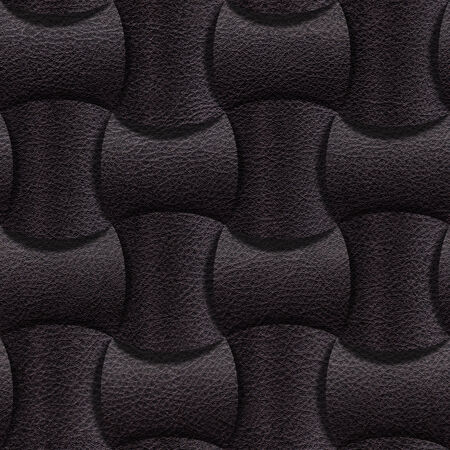 black leather: Leathe rounded blocks stacked for seamless background, surface black leather