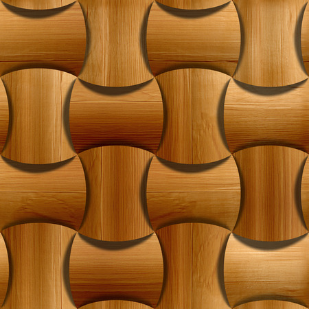 veneer: Wooden rounded blocks stacked for seamless background, veneer alder