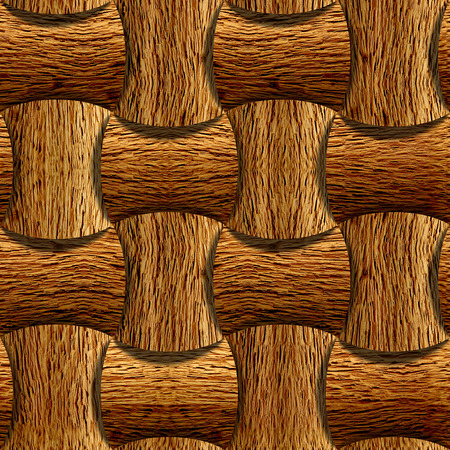 veneer: Wooden rounded blocks stacked for seamless background, veneer nut