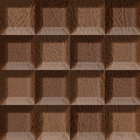 stacked: Abstract tiles stacked for seamless background, imitation leather Stock Photo