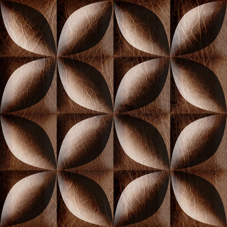 imitation leather: Abstract decorative tiles stacked for seamless background, imitation leather Stock Photo