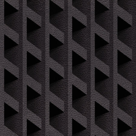 grained: Abstract paneling blocks stacked for seamless background, imitation leather Stock Photo