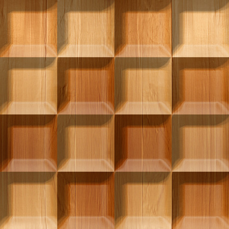 Abstract tiles stacked for seamless background, wooden surface photo