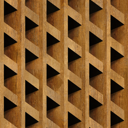 Abstract paneling blocks stacked for seamless background, wooden surface photo