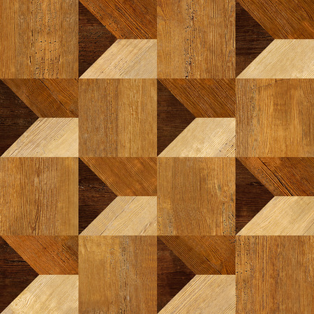 Abstract paneling pattern seamless background - wooden texture photo